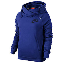 Buy Nike Rally Funnel Neck Hoodie, Deep Royal Blue Online at johnlewis.com