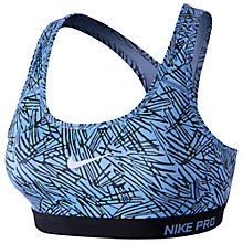 Buy Nike Pro Classic Padded Palm Print Sports Bra Online at johnlewis.com