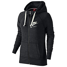 Buy Nike Gym Vintage Full-Zip Hoodie, Anthracite Online at johnlewis.com