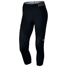 Buy Nike Pro Hypercool Capri Pants, Black/White Online at johnlewis.com