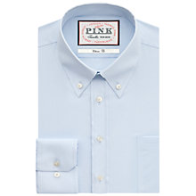 Buy Thomas Pink Taio Plain Classic Fit Button Cuff Shirt, Blue Online at johnlewis.com