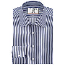 Buy Thomas Pink Grant Stripe Classic Fit Shirt, Navy/White Online at johnlewis.com