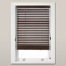 Buy John Lewis Wood Venetian Blind, FSC-Certified, 35mm, Espresso Online at johnlewis.com