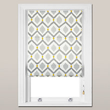 Buy John Lewis Indah Roman Blind, Grey / Saffron Online at johnlewis.com