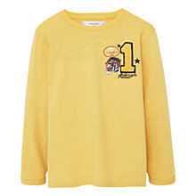 Buy Mango Kids Boys' Number Patch T-Shirt, Yellow Online at johnlewis.com