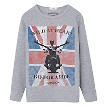 Buy Mango Kids Boys' Union Jack Print T-Shirt, Grey Online at johnlewis.com