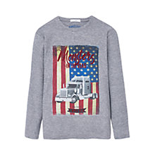 Buy Mango Kids Boys' Flag Print T-Shirt, Grey Online at johnlewis.com
