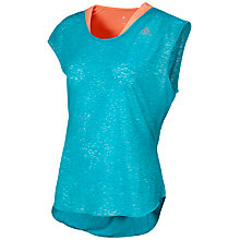 Buy Adidas Lycra Running Top, Green Online at johnlewis.com