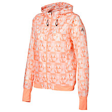 Buy Adidas Graphic Print Running Jacket, Coral Online at johnlewis.com