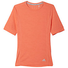 Buy Adidas Supernova Running T-Shirt, Red Online at johnlewis.com