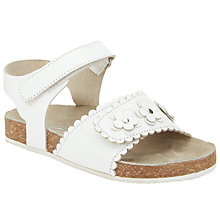 Buy John Lewis Children's Milly Daisy Sandals, White Online at johnlewis.com