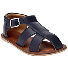 Buy John Lewis Children's Noah Leather Fisherman Sandals, Navy Online at johnlewis.com