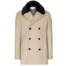 Buy Reiss Maverick Faux Fur Collar Coat, Camel Online at johnlewis.com