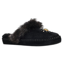 Buy UGG Aira Embellished Slippers, Black Suede Online at johnlewis.com