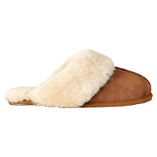 Buy Jigsaw Sheepskin Mule Slippers, Natural Online at johnlewis.com