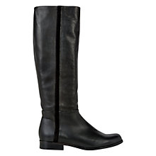 Buy Hobbs Diane Long Boots, Black Leather Online at johnlewis.com