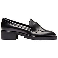Buy Selected Femme Merle Pointed Toe Loafers, Navy Online at johnlewis.com