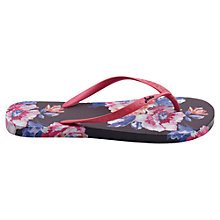 Buy Joules Rose Flip Flops, Navy Online at johnlewis.com