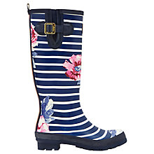 Buy Joules Rose Stripe Tall Wellington Boots, Navy Online at johnlewis.com
