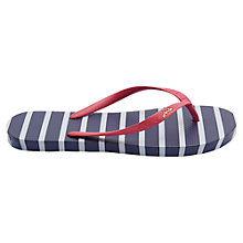 Buy Joules Striped Flip Flop, Navy Online at johnlewis.com