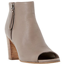 Buy Dune Jaspa Block Heeled Peep Toe Ankle Boots Online at johnlewis.com