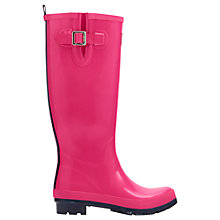 Buy Joules Gloss Tall Wellington Boots, Pink Online at johnlewis.com