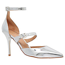 Buy Carvela Argent Cut Away Court Shoes, Silver Online at johnlewis.com