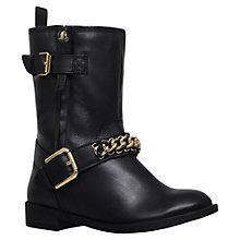 Buy KG by Kurt Geiger Rumble Low Block Heeled Calf Boots, Black Leather Online at johnlewis.com