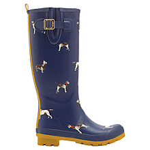 Buy Joules Womens Dog Print Wellington Boots, Navy Online at johnlewis.com