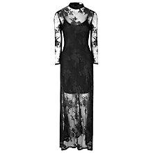 Buy True Decadence Sheer Split Maxi Dress, Black Online at johnlewis.com