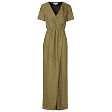 Buy True Decadence Wrap Front Maxi Dress, Black/Gold Online at johnlewis.com