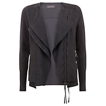 Buy Mint Velvet Zip Front Knit Jacket, Grey Online at johnlewis.com