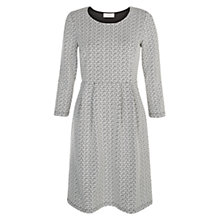 Buy Hobbs Floral Jacquard Dress, Black/Ivory Online at johnlewis.com