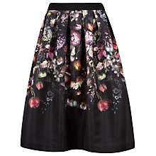 Buy Ted Baker Brissat Shadow Floral Midi Skirt, Mid Grey Online at johnlewis.com