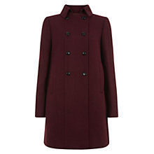 Buy Hobbs Seana Coat, Maroon Red Online at johnlewis.com