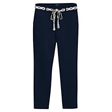 Buy Mango Straight Cotton Trousers Online at johnlewis.com