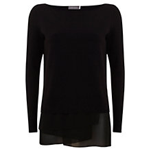 Buy Mint Velvet Asymmetric Knit, Black Online at johnlewis.com