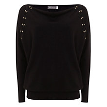 Buy Mint Velvet Batwing Knit, Black Online at johnlewis.com