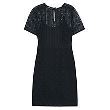 Buy Mango Guipure Dress, Black Online at johnlewis.com