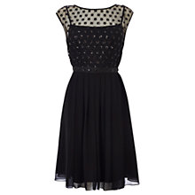 Buy Coast Lori Lee Cluster Short Dress, Black Online at johnlewis.com