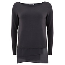 Buy Mint Velvet Asymmetric Knit, Grey Online at johnlewis.com