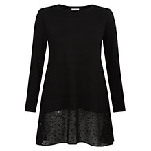 Buy Hobbs Ali Jumper, Black Online at johnlewis.com