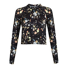 Buy Miss Selfridge Woodland Print Blouse, Assorted Online at johnlewis.com
