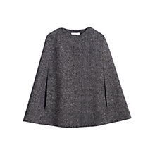 Buy Hobbs Newton Wool Cape, Black/White Online at johnlewis.com