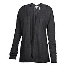 Buy Fat Face Billacombe Lace Edge Cardigan, Phantom Online at johnlewis.com