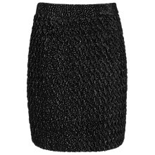 Buy Reiss Mauritz Textured Detail Skirt, Black Online at johnlewis.com