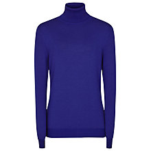 Buy Reiss Ritz Roll Neck Jumper, Blue Abyss Online at johnlewis.com