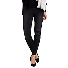 Buy Mint Velvet Oakland Ripped Skinny Jeans, Black Online at johnlewis.com