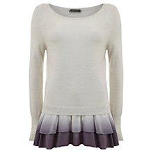 Buy Mint Velvet Ombre Overdye Knit, Grey Online at johnlewis.com