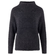Buy Jigsaw Boucle Funnel Neck Jumper, Mid Grey Online at johnlewis.com